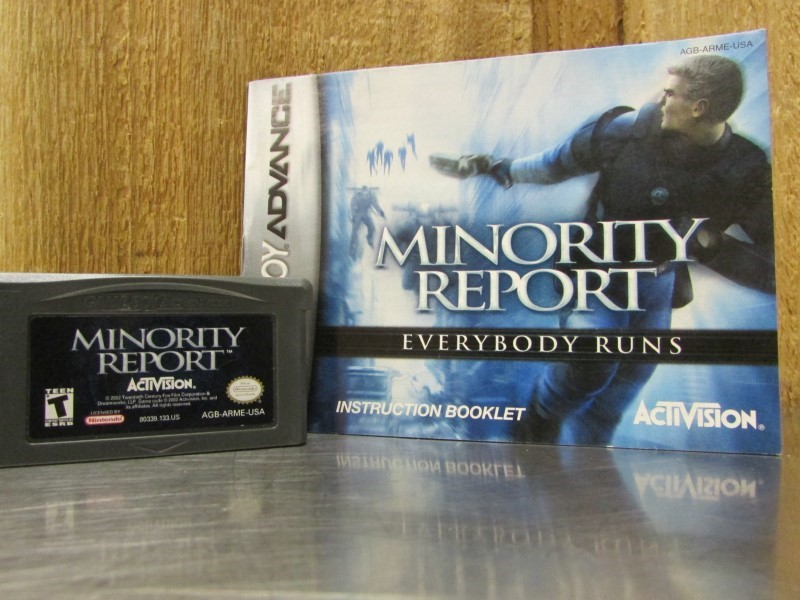 NINTENDO Nintendo GBA Game MINORITY REPORT GBA