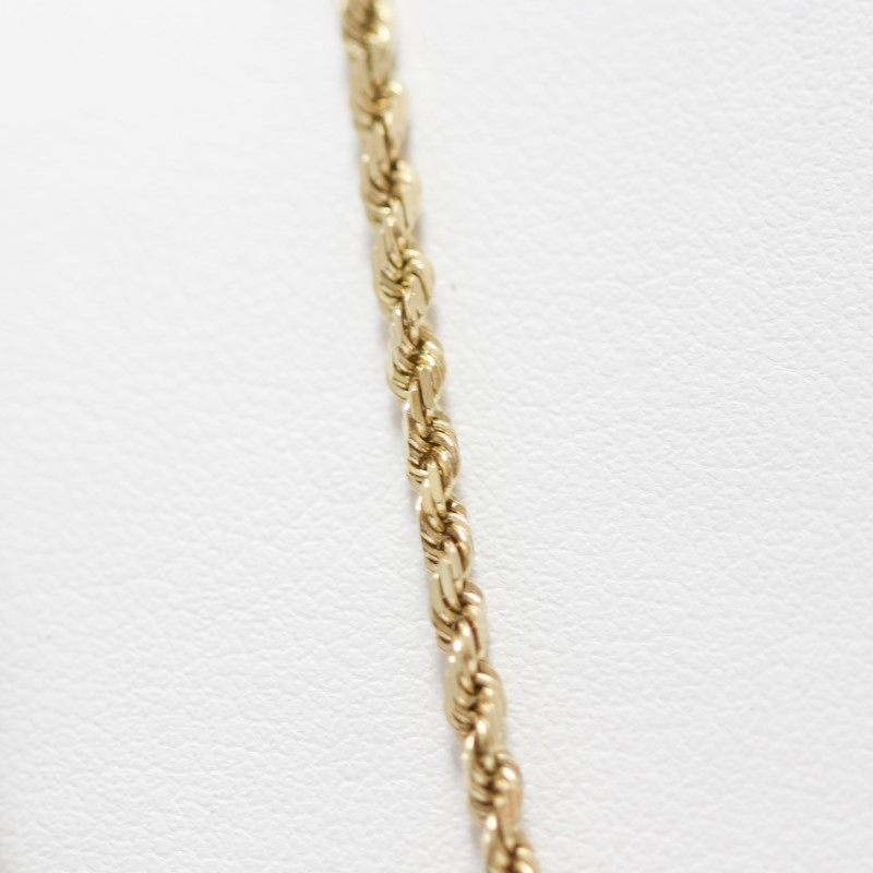 "Unisex 20"" 14K Yellow Gold Rope Chain"