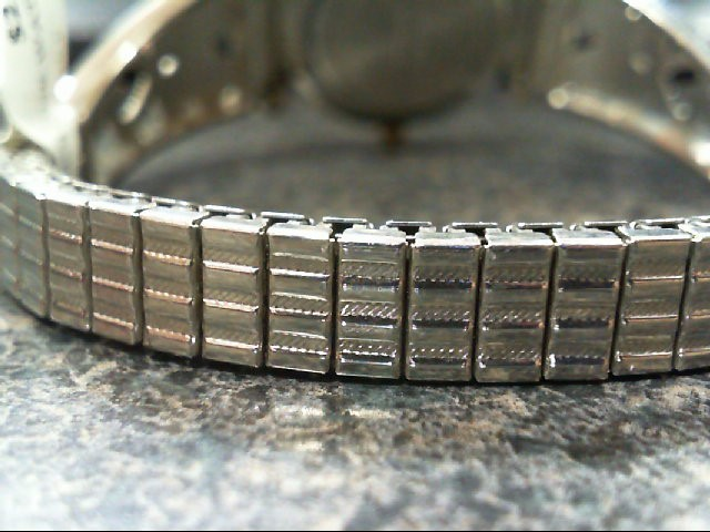 Stainless Steel and Base Metal Bezel Non-Gold SIL TONE Wrist Watch