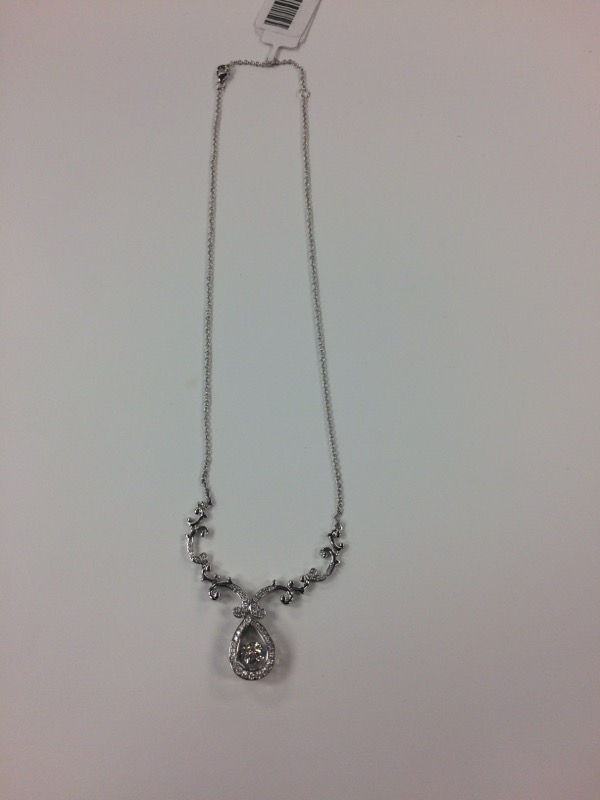 Synthetic Agate Stone Necklace 925 Silver 16.4g