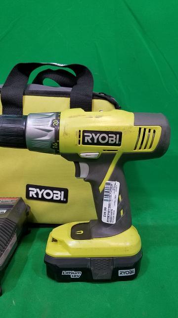 RYOBI P1811 ONE+ 18-Volt Lithium-Ion Compact Drill/Driver Kit P271