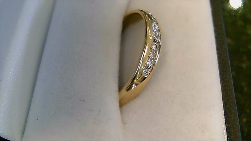 10 Diamond 0.10 CTW 14K Yellow Gold Wedding Band