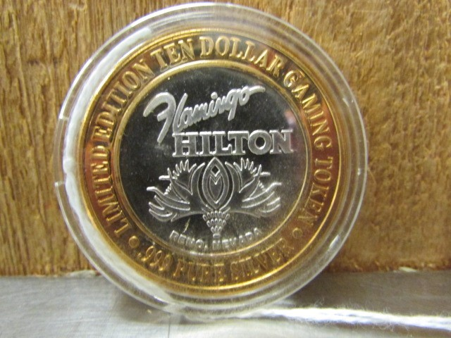 Silver Bullion TEN DOLLAR GAMING TOKEN