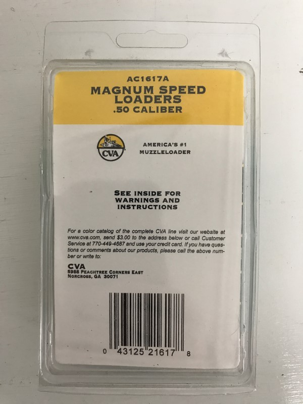 CVA MAGNUM SPEED LOADERS, SET OF 2, .50 CALIBER, MODEL # AC1617A