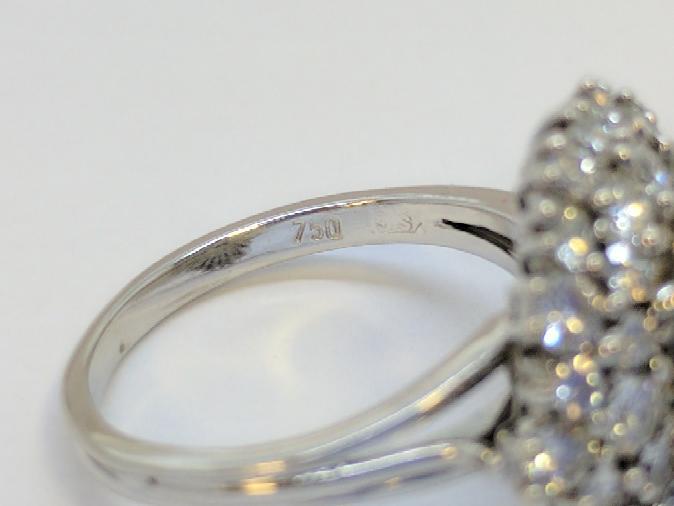 Lady's Diamond Fashion Ring Mount 1.92 Carat T.W. 18K White Gold 6.6g