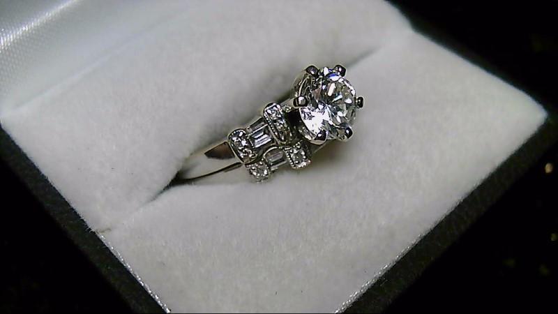 14L White Gold Diamond 1.13 CTTW Wedding Ring Set 6.26G