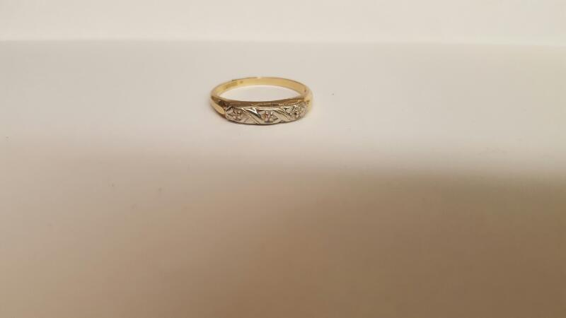 Lady's Gold Ring 14K Yellow Gold 1.64g Size:6.8