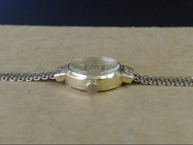 "ESTATE 7"" REAL 14K YELLOW GOLD LADIES GENEVE WRIST WATCH 4.5mm BAND"