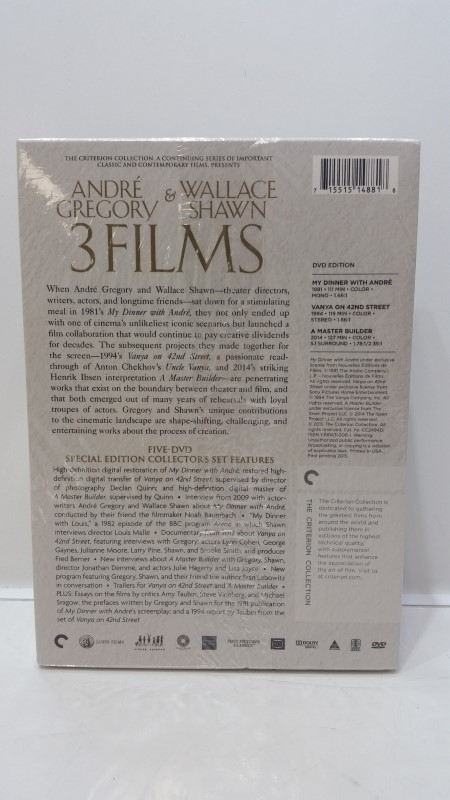 Andre Gregory & Wallace Shawn: The Criterion Collection 3 Films DVD