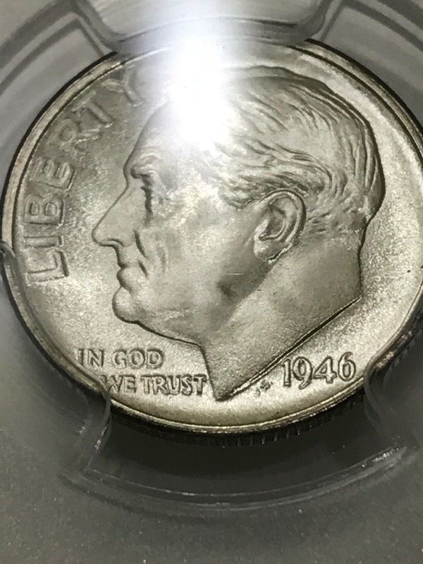 1946-S Roosevelt Dime 10c PCGS Graded MS66FB 90% Silver