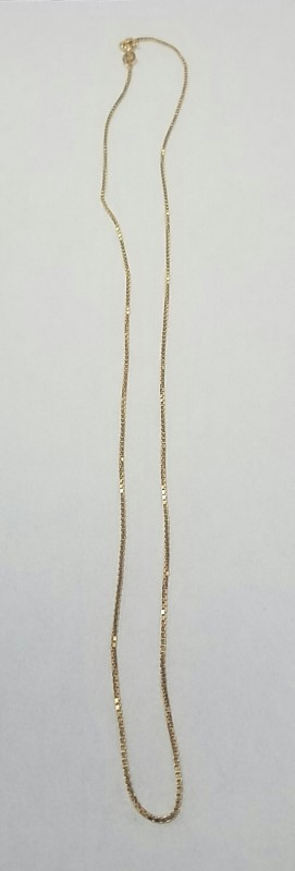 "18"" Gold Box Chain 14K Yellow Gold 3.1g"