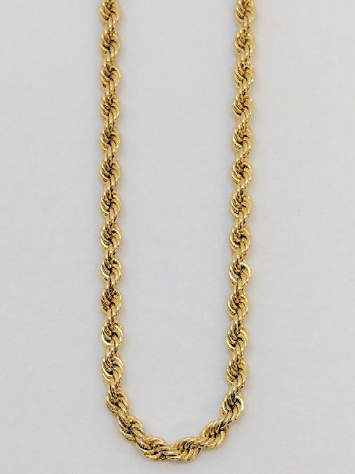 """24"""" Gold Rope Chain 14K Yellow Gold 12.5g"""