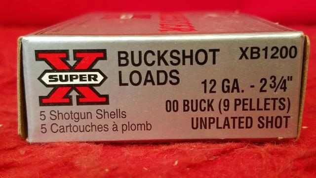 "Winchester 12ga Buckshot Loads 2-3/4"" Shells - 5 Rounds"