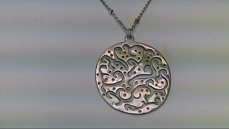 """Lady's sterling silver 18"""" circle silpada necklace"""