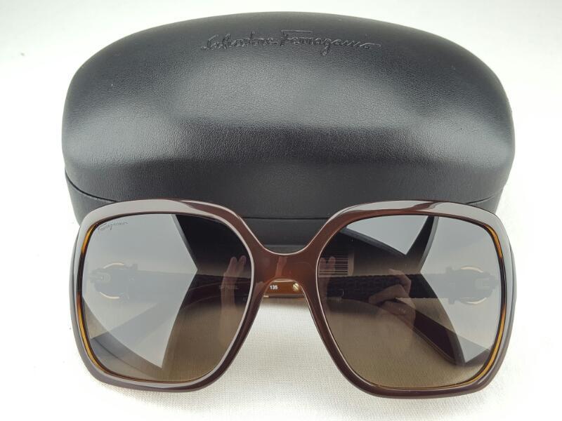 SALVATORE FERRAGAMO Sunglasses SF765SL Brown 210 w/case