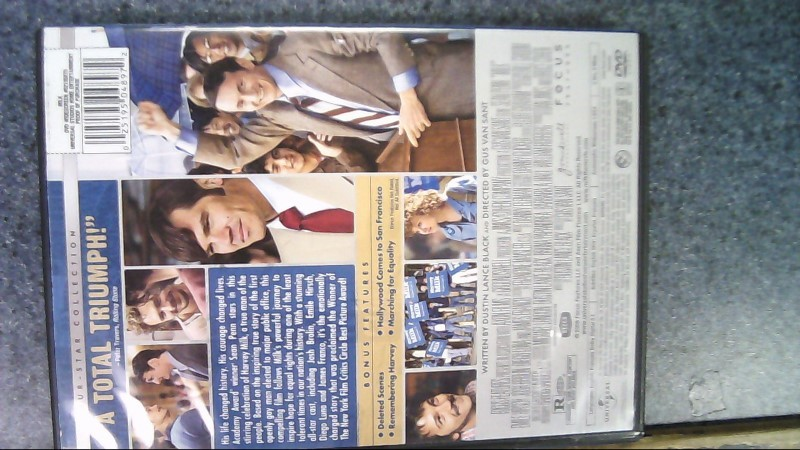"MILK DVD MOVIE ""AN AMERICA CLASSIC"""