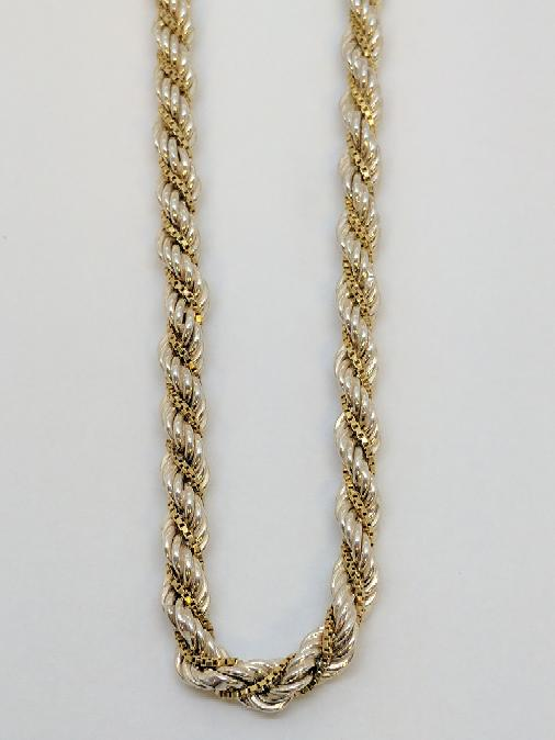 """18"""" Silver Rope Chain 925 Silver 22.7g"""