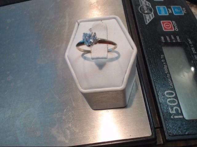 Lady's Diamond Engagement Ring .85 CT. 14K Yellow Gold 1.25dwt