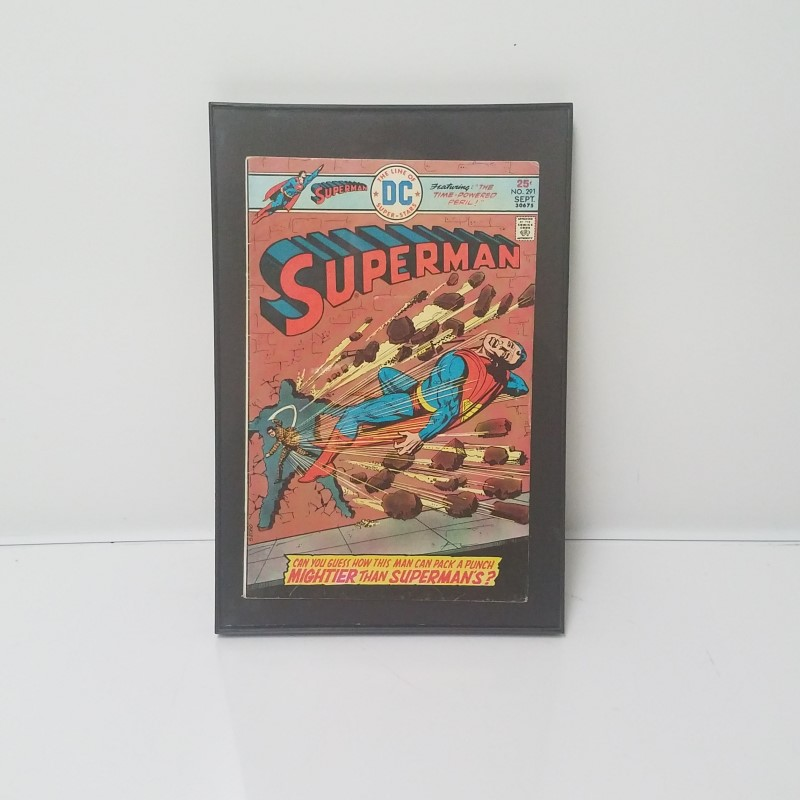 """Superman #291 DC Comics Sept. 1975 """"The Time-Powered Peril!"""" Framed"""