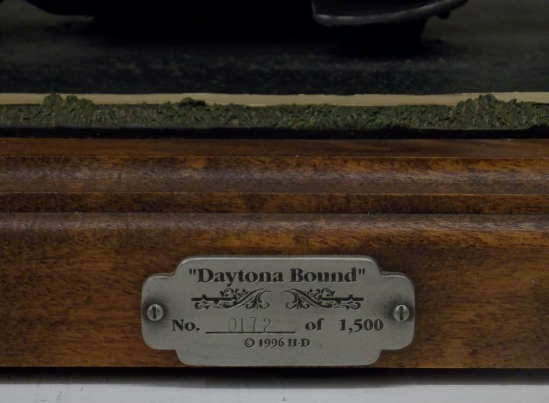 "1996 HARLEY DAVIDSON LIMITED EDITION ""DAYTONA BOUND"" FIGURINE BY MARK PATRICK"