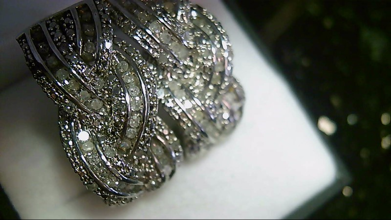 Antique Round Diamond Cluster Semi Hoop 925 Silver Earrings 10.21G
