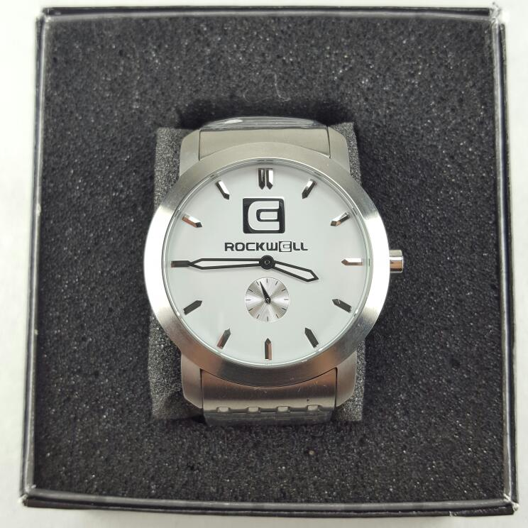ROCKWELL THE CARTEL CT101 STAINLESS STEEL WHITE DIAL WATCH