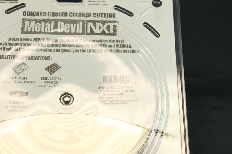 """8"""" MK Morse CSM868NTSC Metal Devil NXT 68T Thin Steel Cutting Blade"""