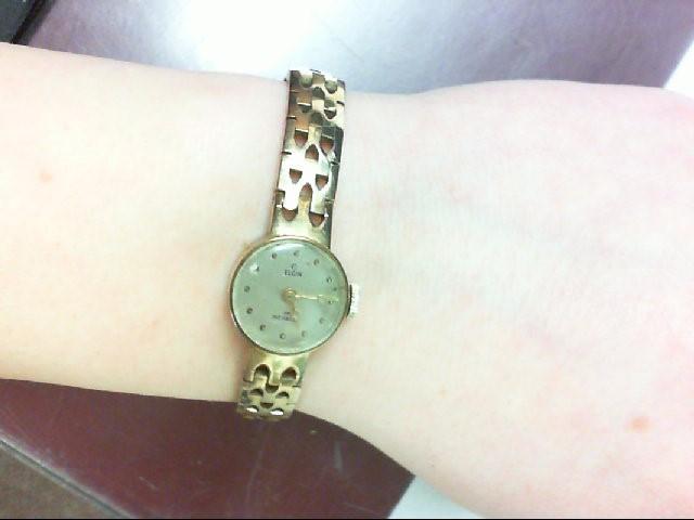 ELGIN Lady's Wristwatch 17 Jewel Manul Incabloc