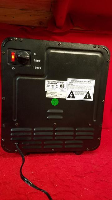 Nice ... Duraflame 1500W Small Portable Heater W/ Realistic Log U0026 Flame Effect