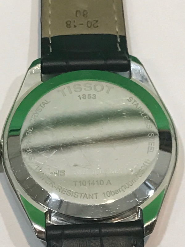 TISSOT 1853 PR100 SILVER FACE LEATHER MENS QUARTZ WRIST WATCH