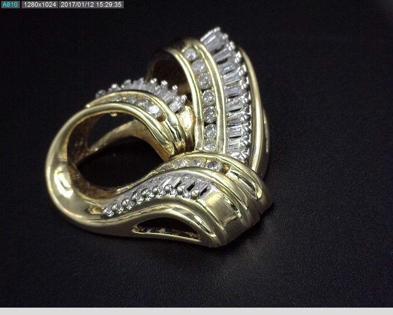 DIAMOND HEART PENDANT APX.46CTW 14KYG 5G