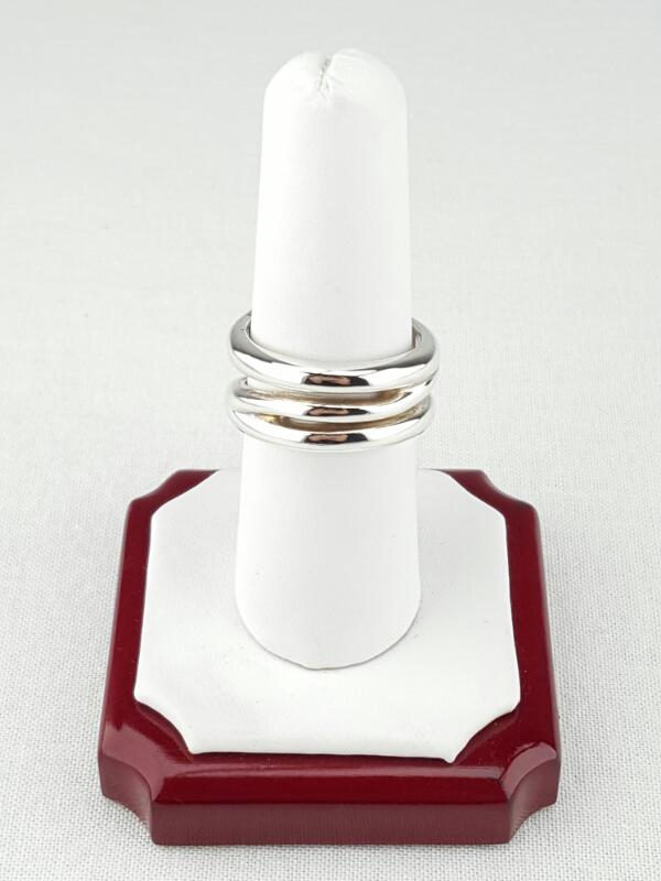 Tiffany & Co. Lady's Silver Ring 925 Silver 10g Size:8