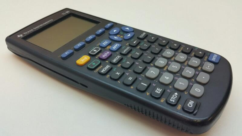 TEXAS INSTRUMENTS TI-89 GRAPHING CALCULATOR WITH COVER]
