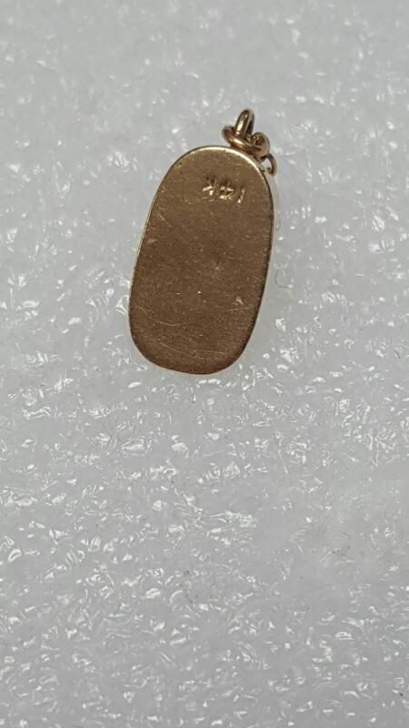 Adorable Solid 14K Yellow Gold 3D Baby Bootie Shoe Dangle Charm