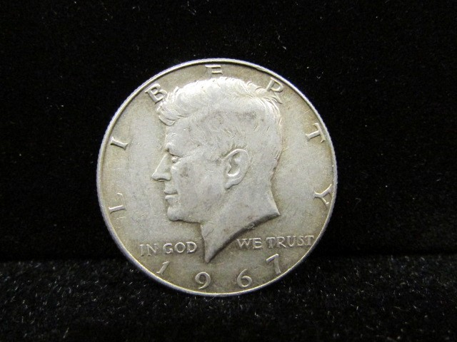UNITED STATES Silver Coin 1967 KENNEDY - 1/2 DOLLAR