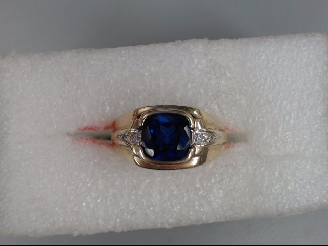 Gent's Gold Ring 10K Yellow Gold 4.76dwt Size:10