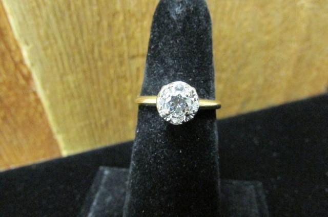 Lady's Diamond Engagement Ring 5 Diamonds .69 Carat T.W. 14K Yellow Gold 2.6g