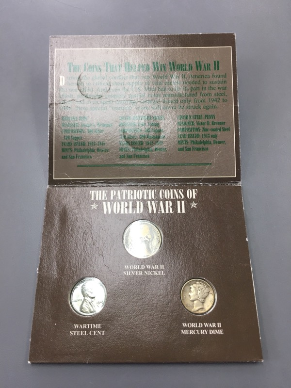 UNITED STATES Collection PATRIOTIC COINS OF WWII