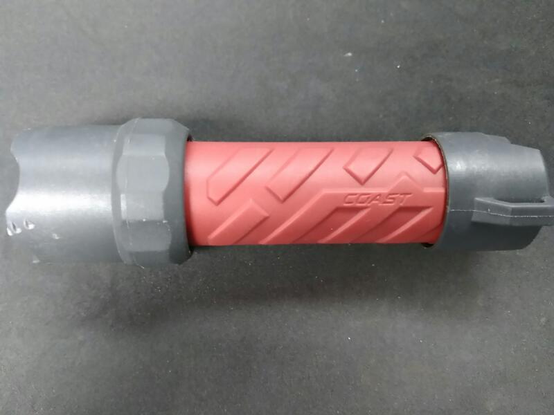 COAST Flashlight LED RED AND GREY FLASHLIGHT.