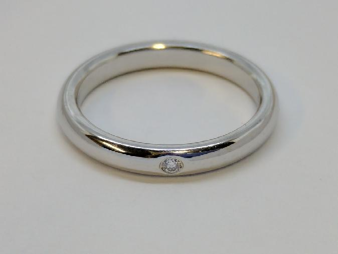 Tiffany & Co. Lady's Platinum-Diamond Wedding Band 2 Diamonds .27 Carat T.W.