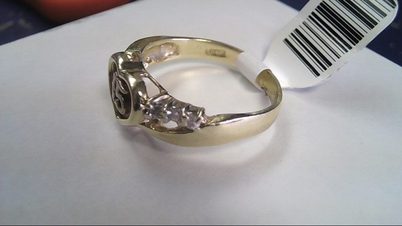 Lady's Gold Ring 14K Yellow Gold 3.5g Size:8.5