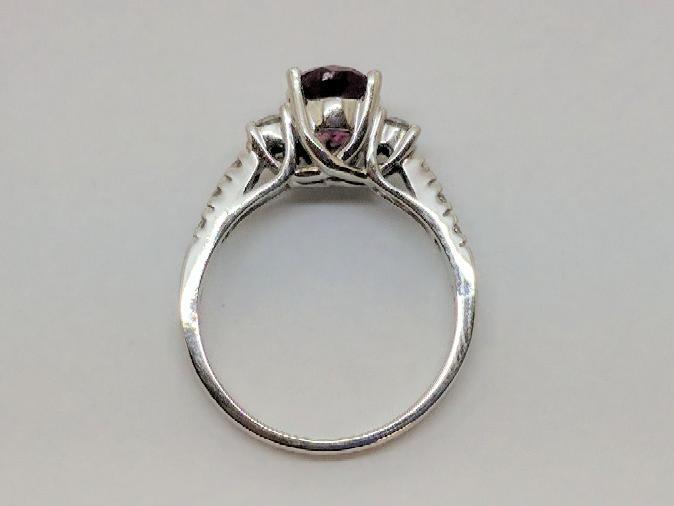 Pink Tourmaline Lady's Stone & Diamond Ring 8 Diamonds .32 Carat T.W.
