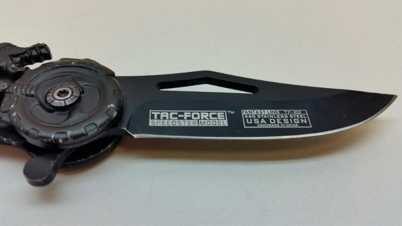 TAC FORCE TF-825 FANTASY LIVE DRAGON MOTORCYCLE FOLDING POCKET KNIFE GREEN]