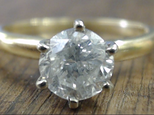 NATURAL DIAMOND 0.89tcw ENGAGEMENT RING REAL 14k GOLD 2.3g SIZE 6.25
