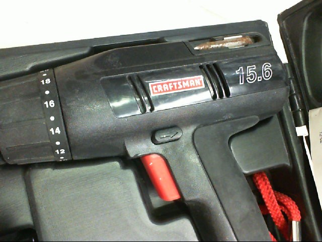 """Craftsman 973.114250 3/8"""" (10mm) Drill/Driver w/ 2 Batteries & Charger"""