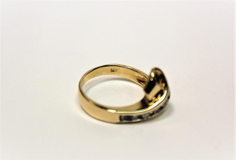 Lady's Diamond Fashion Ring 7 Diamonds .42 Carat T.W. 14K Yellow Gold 4.7g