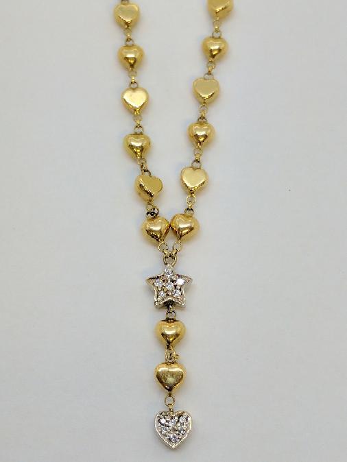 "20"" Diamond Necklace 12 Diamonds .12 Carat T.W. 14K Yellow Gold 11.2g"