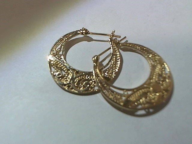 Gold Earrings 14K Yellow Gold 3.7g