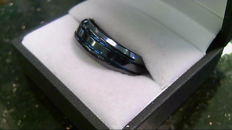 Men's Titanium Blue and Black Band Sz 11.5