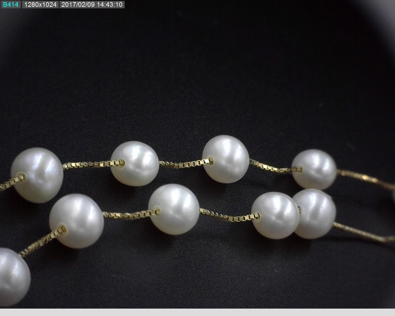 "18"" PEARL NECKLACE 14KYG 7.1G 23 PEARLS"